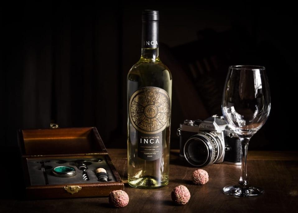 fotografia botella inca
