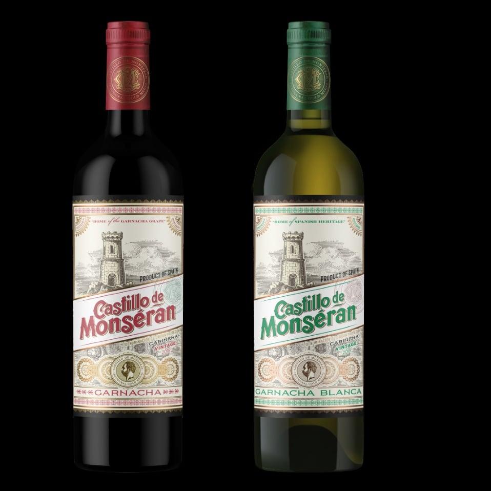 castillo de monseran botellas vintage