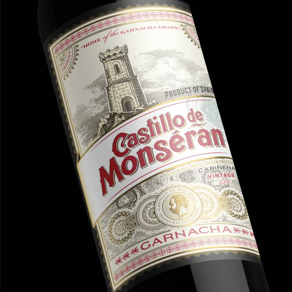 etiqueta castillo de monseran vintage