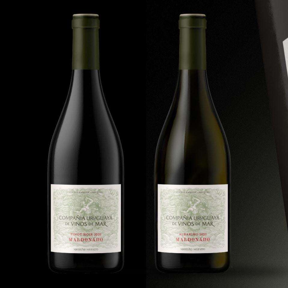 botellas compañia uruguaya de vinos de mar