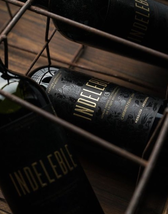 fotografia botella indeleble